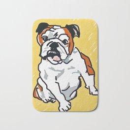 Bulldog Portrait Bath Mat