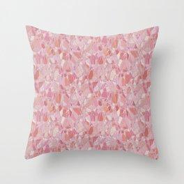Pastel Pink Terrazzo Design Throw Pillow