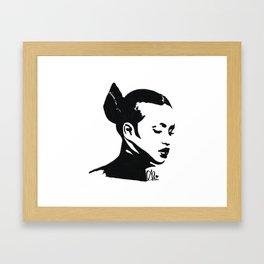 Cassie in Monochrome  Framed Art Print