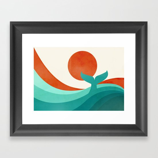 Wave (day) Framed Art Print