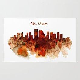 New Orleans watercolor skyline Rug