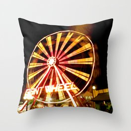 Giant Wheel Throw Pillow