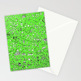 Green Sheep Lyons Stationery Cards