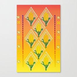 Corn Pattern Print Canvas Print