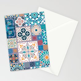 Geometric tiles Stationery Cards