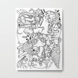 counting rabbits Metal Print
