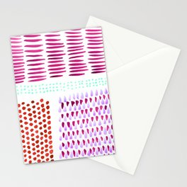 August Brushstrokes Stationery Cards