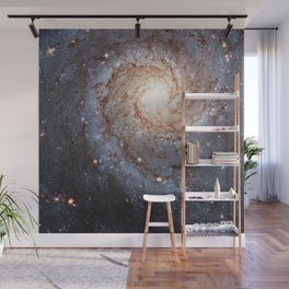Messier 74,  NGC 628 Spiral galaxy in the constellation Pisces Wall Mural