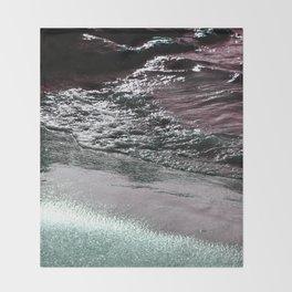 Dark Saturated Sea Coast Throw Blanket