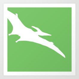 Pterodactyl dinosaur Art Print