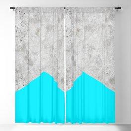 Geometric Concrete Arrow Design - Neon Blue #504 Blackout Curtain