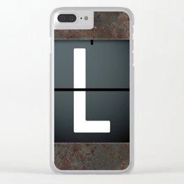 monogram schedule L Clear iPhone Case