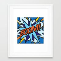 comic book Framed Art Prints featuring Comic Book BOOM! by The Image Zone