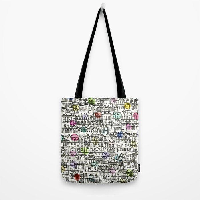 Parisian Cityscape Tote Bag