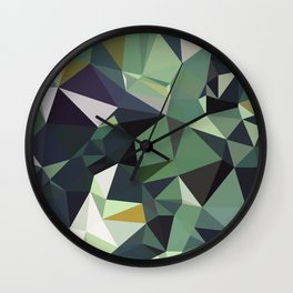 Martinique Low Poly Wall Clock