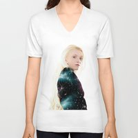 luna lovegood V-neck T-shirts featuring Luna Lovegood  by kelsey cooke art