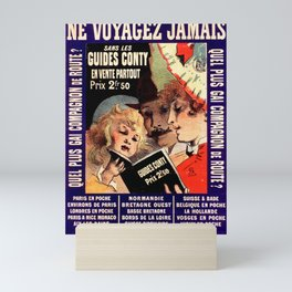Voyages 1888 Vintage French Advertising Mini Art Print