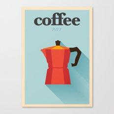 Minimal Coffee Poster Canvas Print