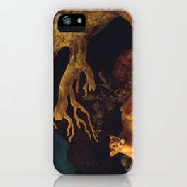 Lion and lioness - George Stubbs - 1771 iPhone Case