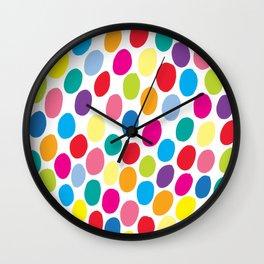 Colour Spots White Wall Clock