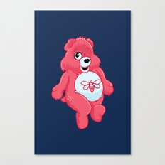 breaking bear. Canvas Print