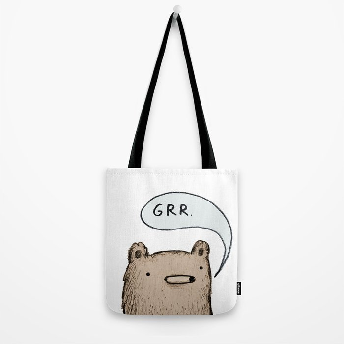 Growling Bear Tote Bag