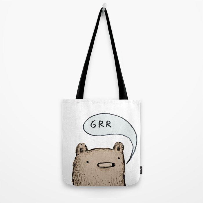 Growling Bear Tote Bag