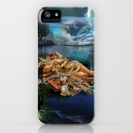 Pocahontas strong woman dream digital illustration art iPhone Case