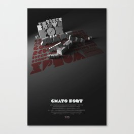 Chato Font poster Canvas Print