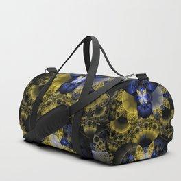Nexus of Fractal Butterflies Seen Thru Puppy Eyes Duffle Bag