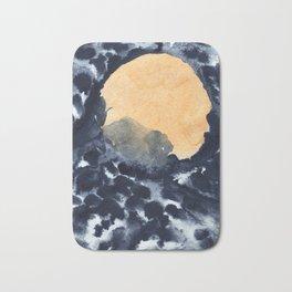 Yellow moon Bath Mat
