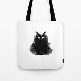 Duster - Black Cat Drawing Tote Bag