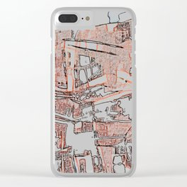 Apartments in the Sky. Clear iPhone Case