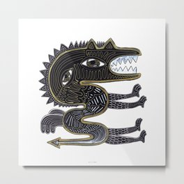 decorative surreal dragon Metal Print