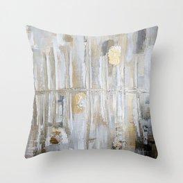 Metallic Abstract Throw Pillow