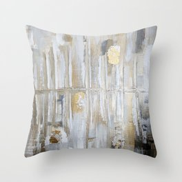 Metallic Abstract Throw Pillow