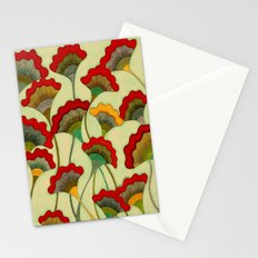 Poppies (warm) Stationery Cards
