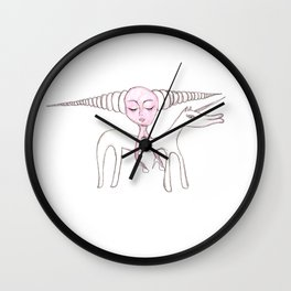 Lady took the unicorn for a ride Wall Clock