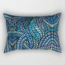 Blue Geometric Mosaic Rectangular Pillow