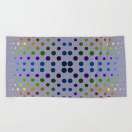 Rainbow dot, dot, dot Beach Towel