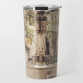 Fountain Courtyard Color Photo Travel Mug