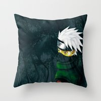 kakashi Throw Pillows featuring Great Talent by BradixArt