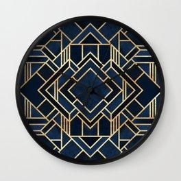 Art Deco Fancy Blue Wall Clock