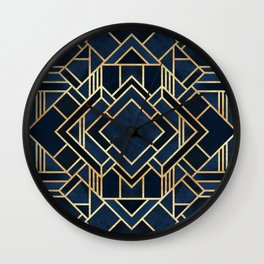 Art Deco Fancy Blue Wall Clock