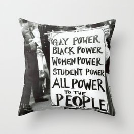 All Power To The People Throw Pillow