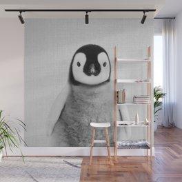 Baby Penguin - Black & White Wall Mural