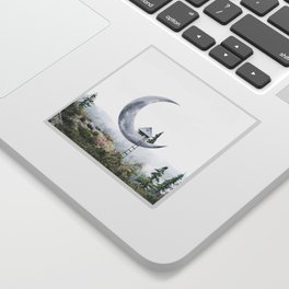 Moon House Sticker