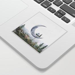 Moon House Sticker