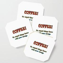 Funny One-Liner Coffee Joke Coaster