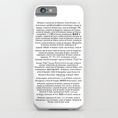 ARTIST in 91 languages iPhone 6s Slim Case